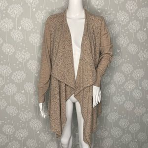 Joie Open Cardigan Size Small Beige Multi Colored